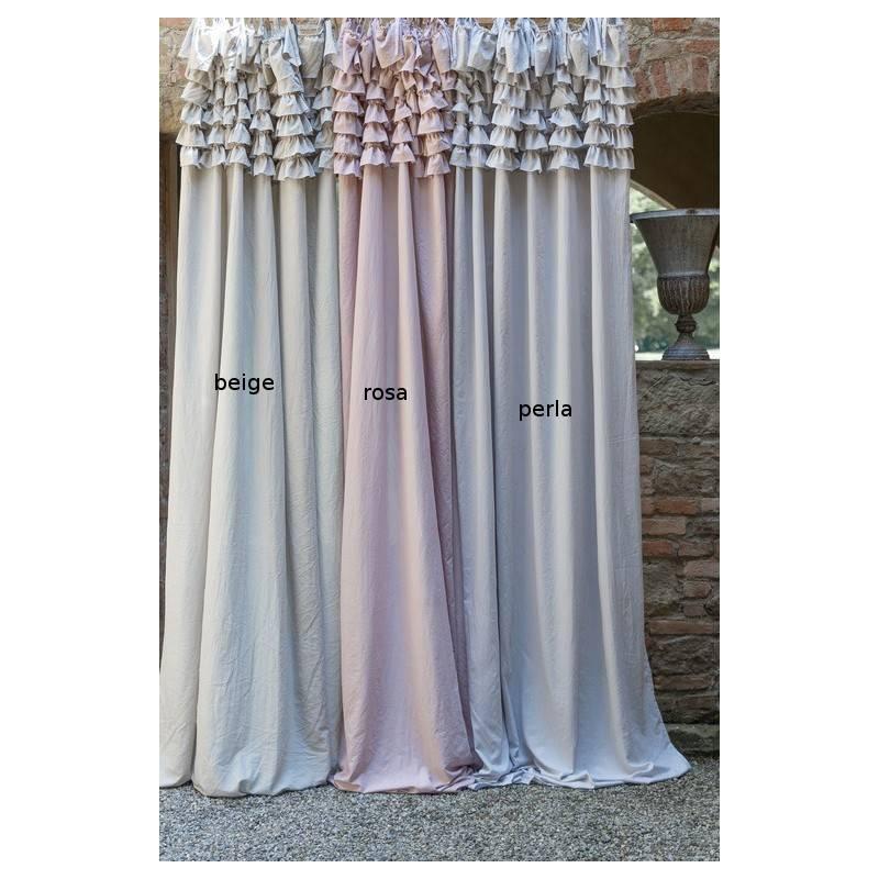 Tende Con Laccetti.Blanc Mariclo Serie Eterna Tenda Con Gale Colore Beige