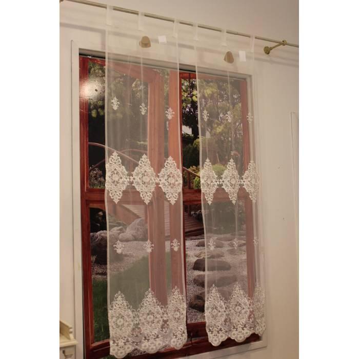 Tende A Vetro 45 Cm.Blanc Mariclo Tenda Finestra Serie Ornamental Lace 45x160