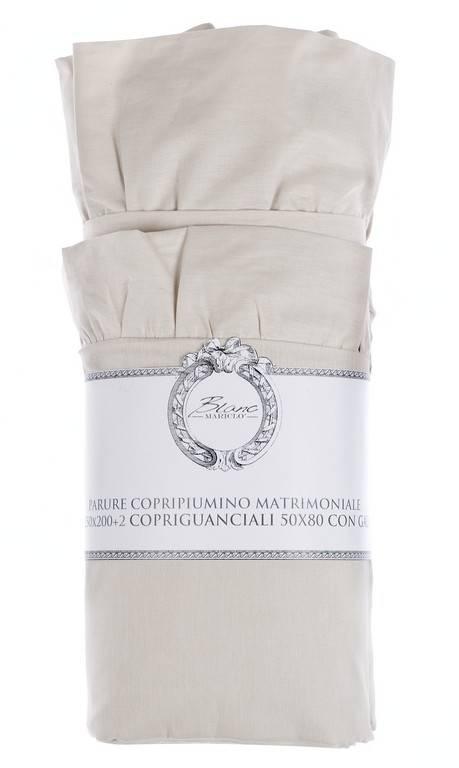 Blanc Mariclo Parure Copripiumino Matrimoniale Con Volant Serie Iris Colore Rosa