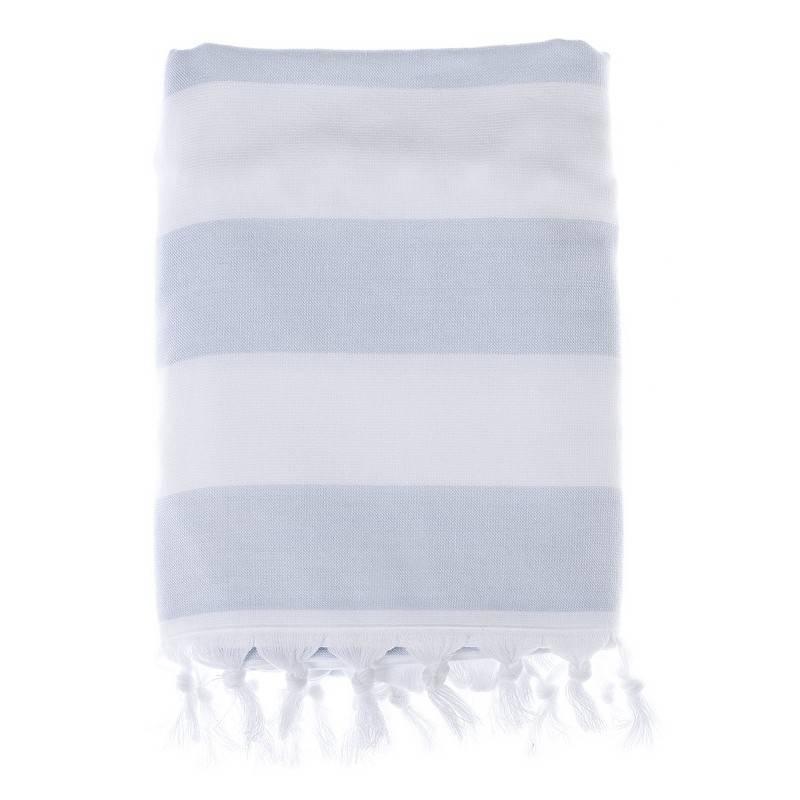 100x170 cm Blanc Maricl/ò Telo Mare a Righe Azzurre