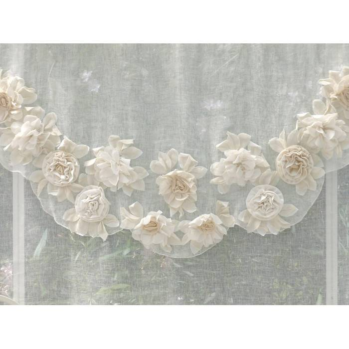 Blanc maricl tende shabby chic tenda serie fiori di campo colore bianco - Fiori da giardino primavera estate ...
