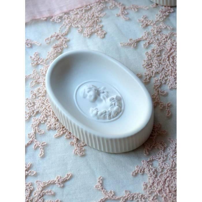 Mathilde M Dispenser Shabby Chic Serie Marquise in Ceramica Bianca