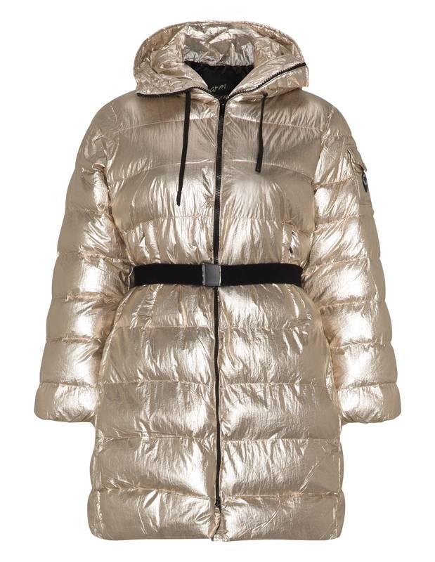best sneakers 0d978 f6e83 Taglie Forti Donna | MAT Fashion | Piumino Effetto Metallico | Colore Oro