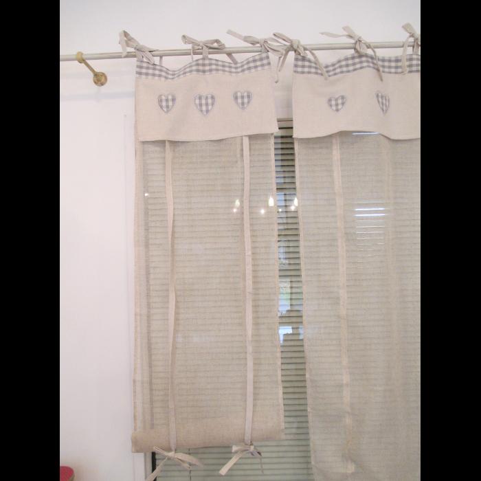 Tende Porta Finestra Cucina.Tenda Porta Finestra Con Mantovana Decorata Cuoricini 60x230 Psr669 231