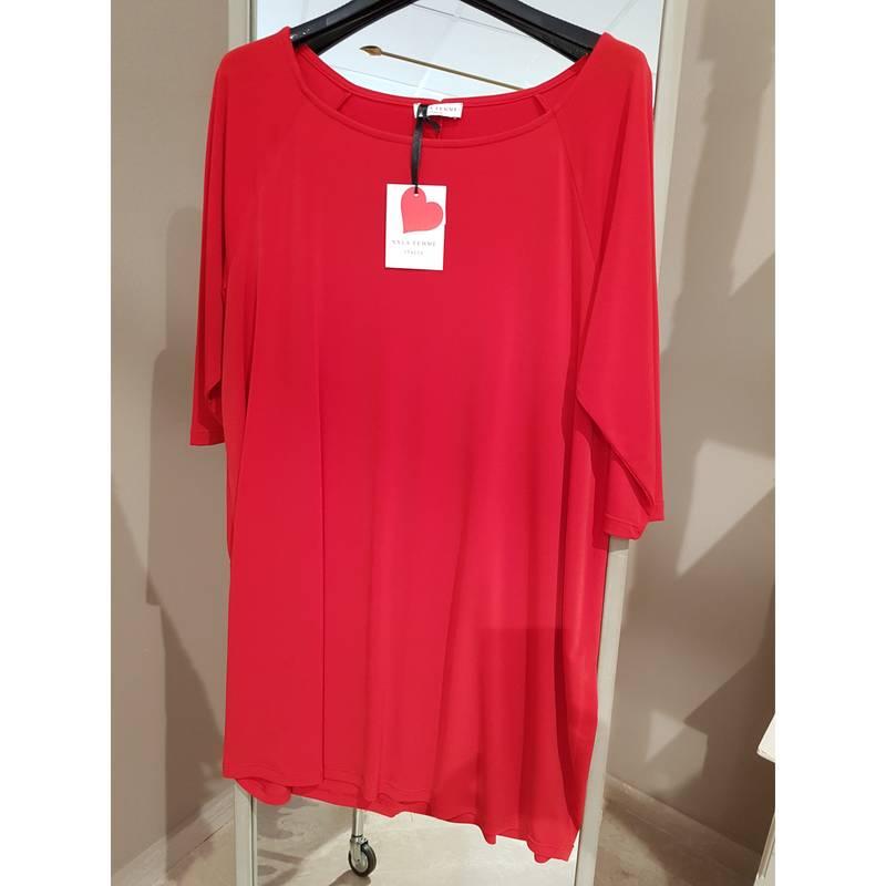 2b2e6df97f xxlafemme-blusa-taglie-forti-jersey-colore-rosso